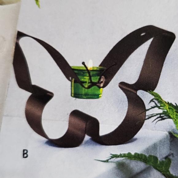 🔸️🔺NIB RETIRED PartyLite Butterfly Votive Holder